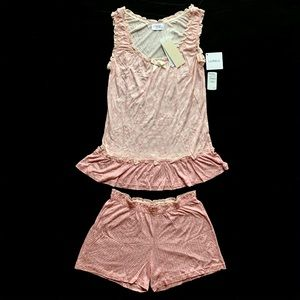 Joelle by La perla pajama set NWT $272 pink cream